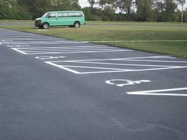 Handicap spaces Restriped